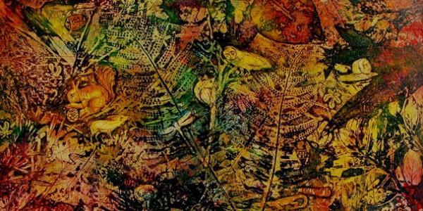 ART; Gravure contemporaine-Végètations et animaux